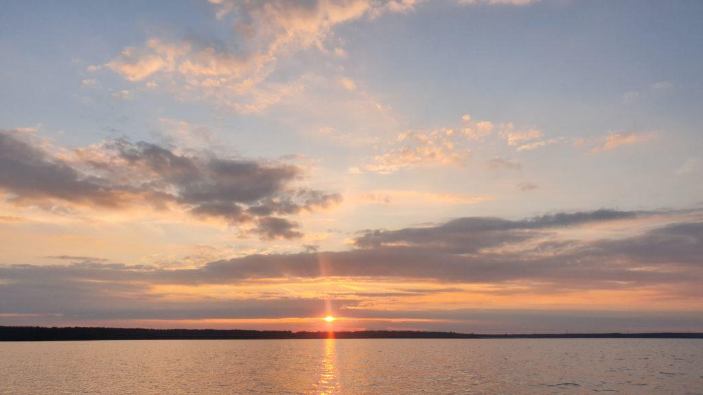 Bärwalder See in der Abenddämmerung